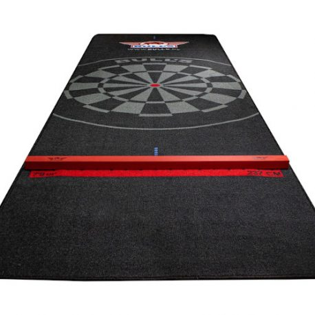 Bull's Carpet Dartmat 300×95 cm Black wooden oche