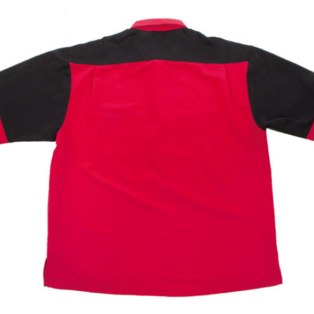 Bull's Dartshirt Red Black achterkant