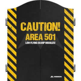 Mission Caution Area 501 Yellow Cabinet