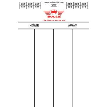 Bull's Darttel Flex 45x30 cm. scorebord