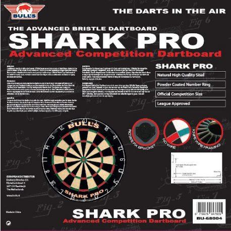 Bull's Shark Pro Dartbord achterkant verpakking
