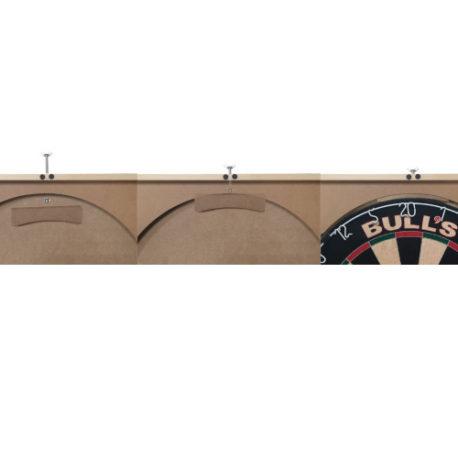 Deluxe Cabinet Dartboard Pro Set bevestiging