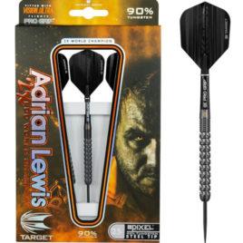 Target Adrian Lewis Black Pixel Grip 90% dartpijlen