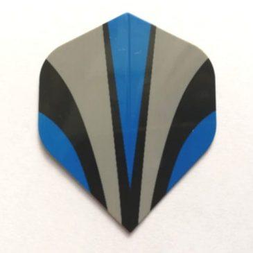 Blauw Grijs Curve Flight