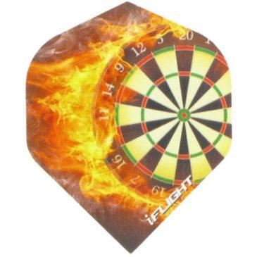 i-Flight Std. Dartboard Flames Flight