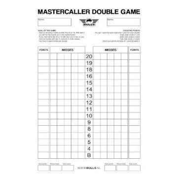 Mastercaller Double Game Scoreboard Flex 45x30