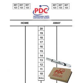 PDC Scoreset 45x30 cm