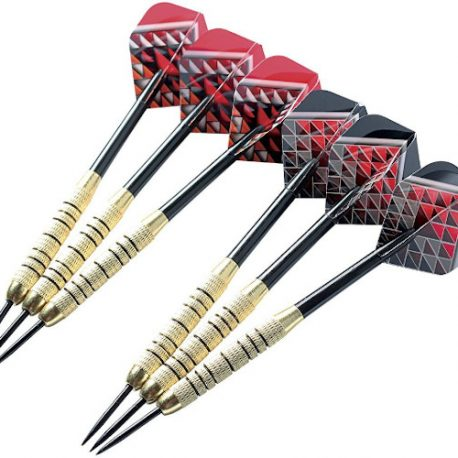 Shot Outlaw Tournament Dartboard Set Brass Darts