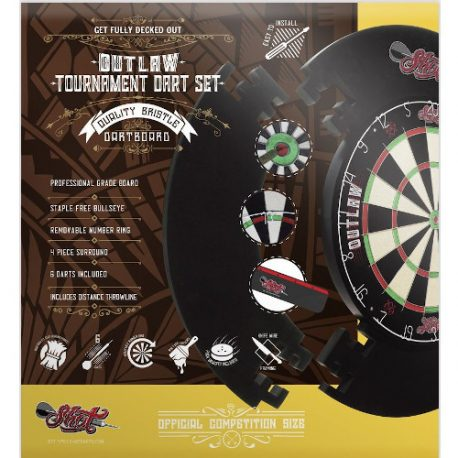 Shot Outlaw Tournament Dartboard Set verpakking