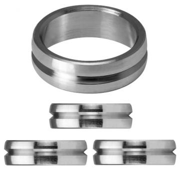 Mission F-Lock Titanium Silver Rings 2 mm