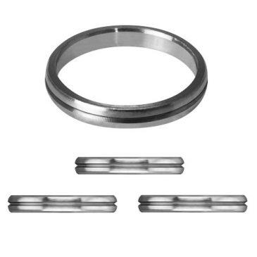 Mission S-Lock Titanium Silver Rings 1 mm