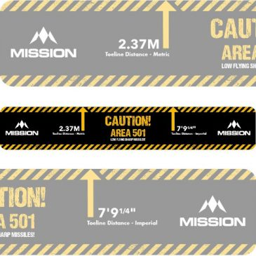 Throw Line Oche Sticker Caution Area 501