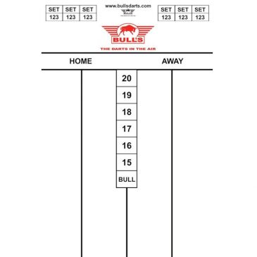 Bull's Darttel Flex Cricket 45x30 cm.