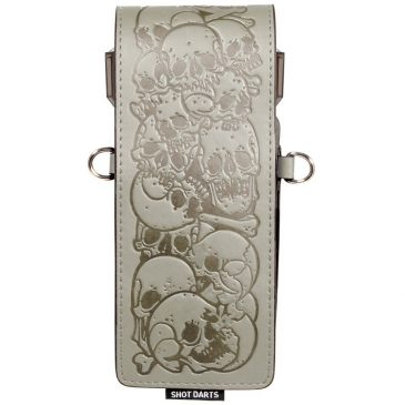 Shot Inked Dartcase Skulls Grey